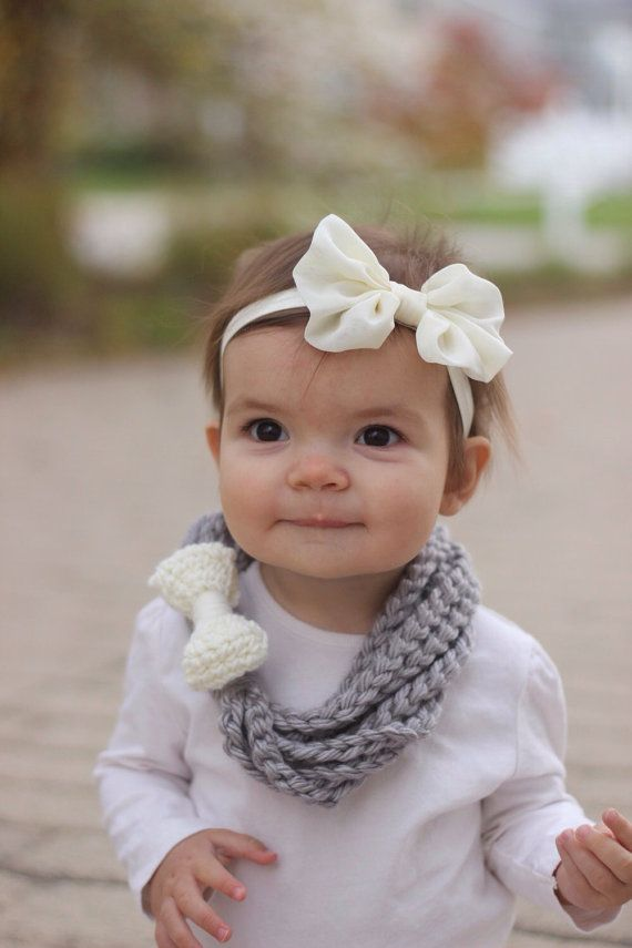 Baby Scarf With Bow Toddler Scarf Chain Loop Scarf Chain Scarf