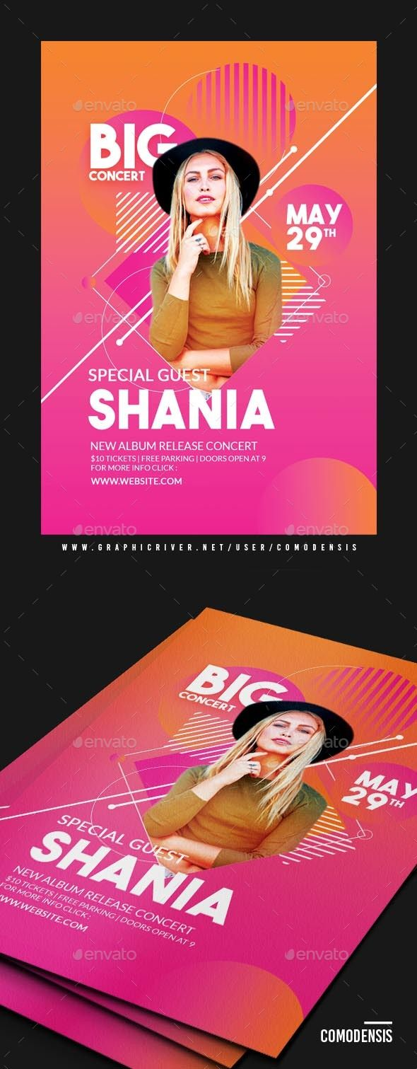 Neon Bright Guest Dj Club Flyer Flyer Template Dj And Neon