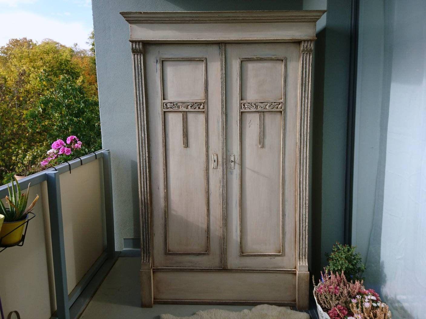 Shabby 1860 Romantisch Kleiderschrank Landhaus Schrank Vintage