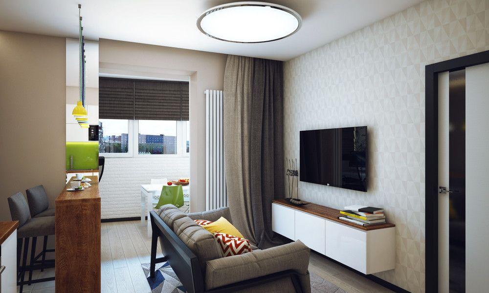 Svezh Interioren Dizajn Za Malk Apartament 47 M Apartment Interior Design Apartment Design Minimalist Living Room Apartment