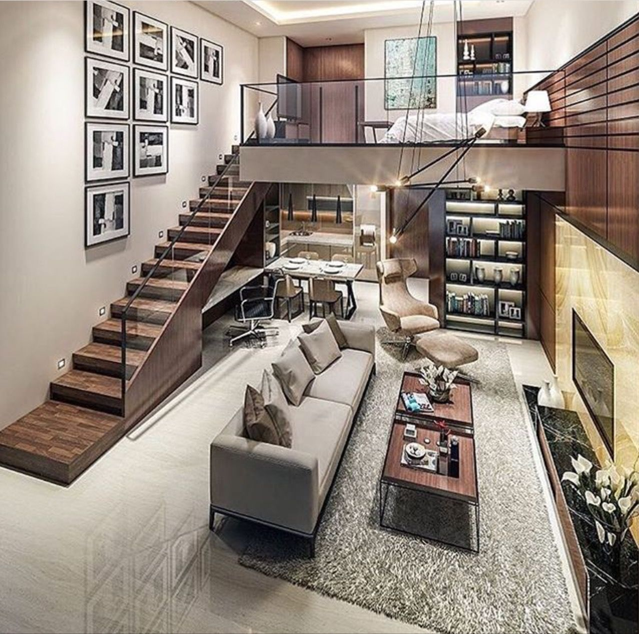 Mezzanine loft bedroom ideas  p ι n т e r e ѕ т   wavyĸιara  Arquitetura  Pinterest  Lofts