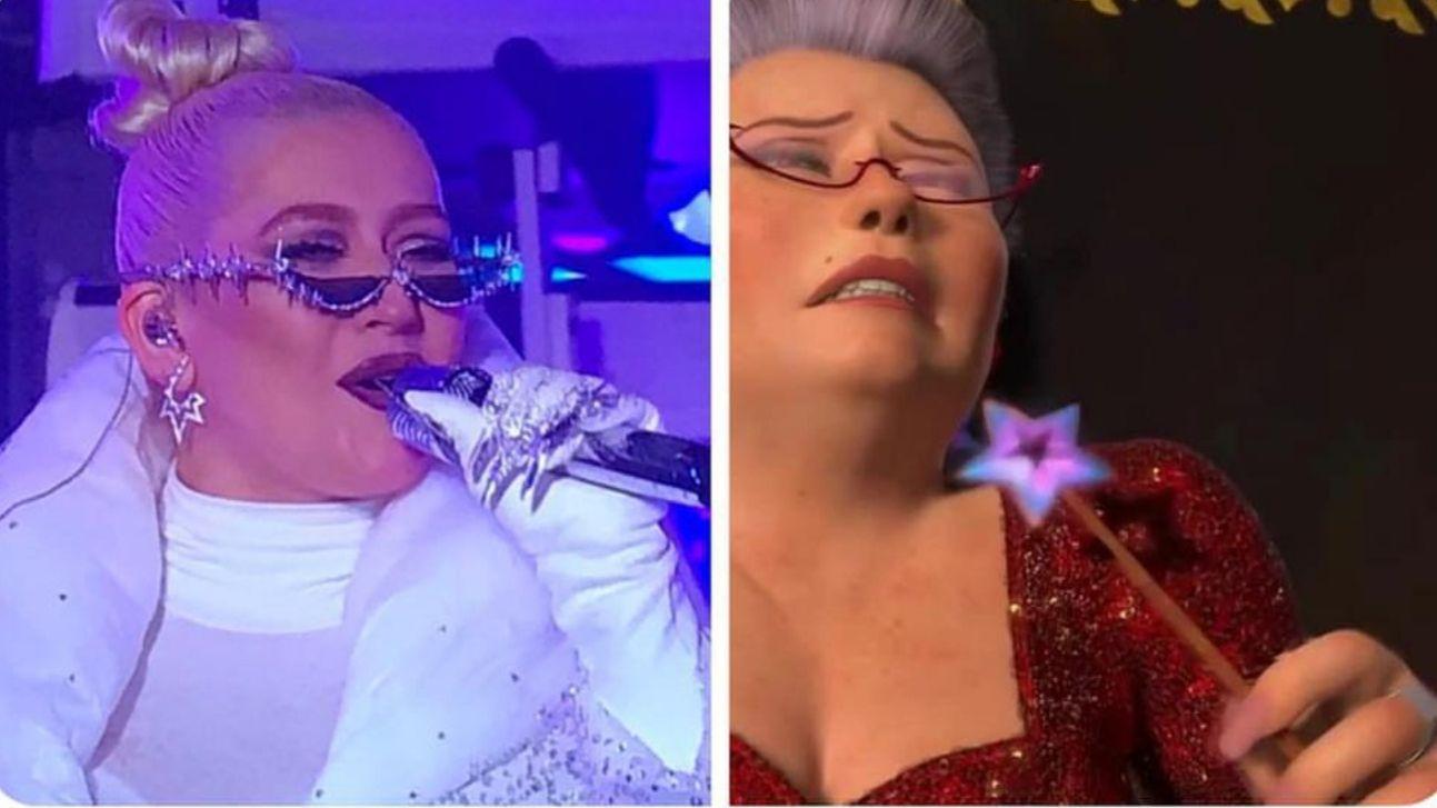Christina Aguilera Is The Fairy Godmother From Shrek 2 Christina