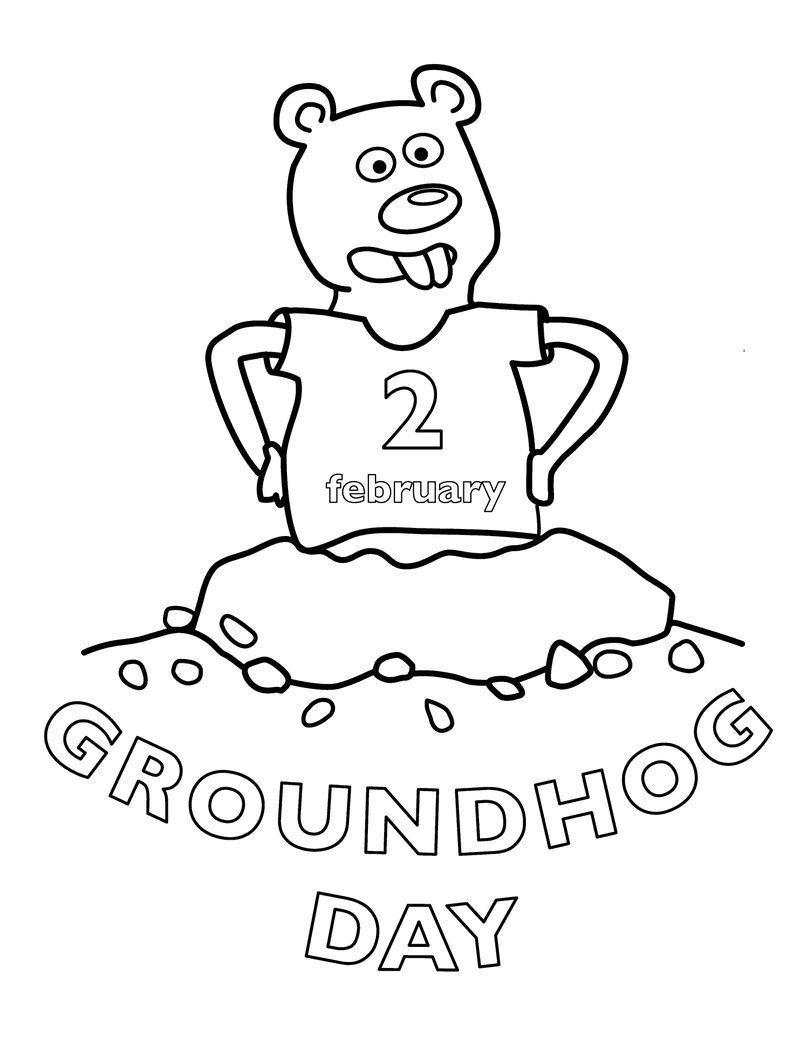 Groundhog Day Coloring Page Free Printable Groundhog Day