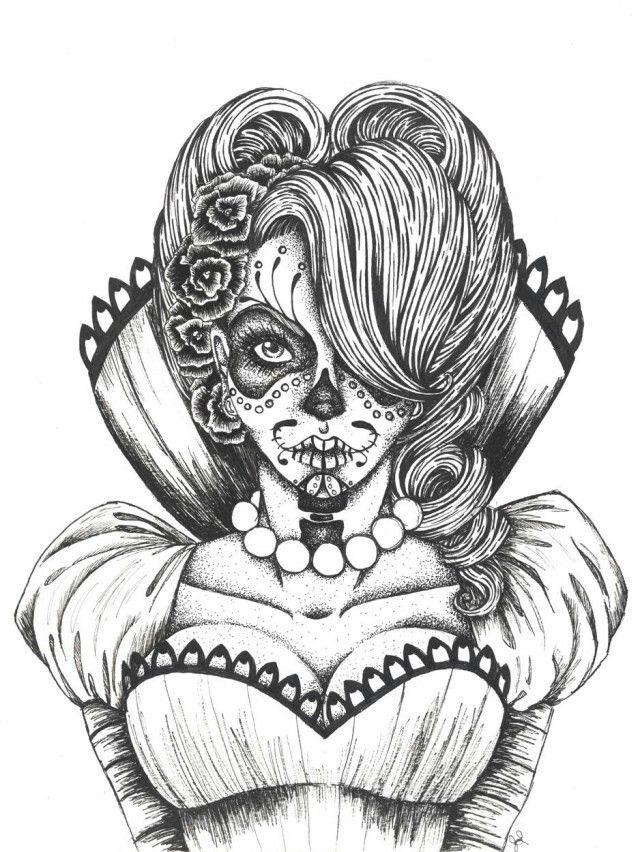 sugar skull printable coloring pages - google search | brooklyn ... - Sugar Candy Skulls Coloring Pages