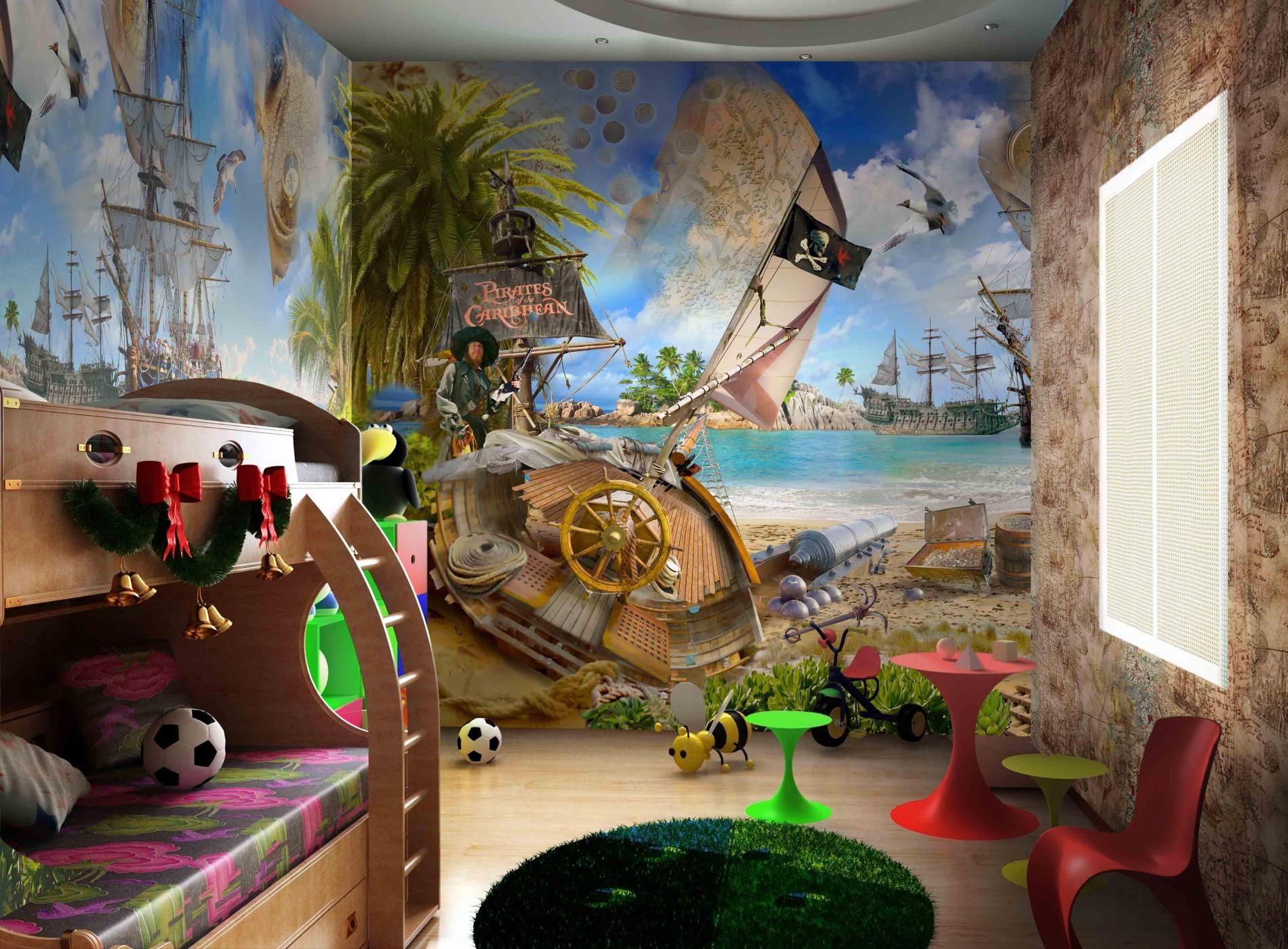 Pirates Of The Caribbean Ideas For The Kids Room Pinterest - Kids room wall murals