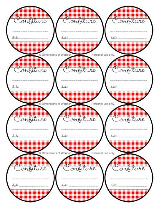 Effortless image for free printable labels for jars