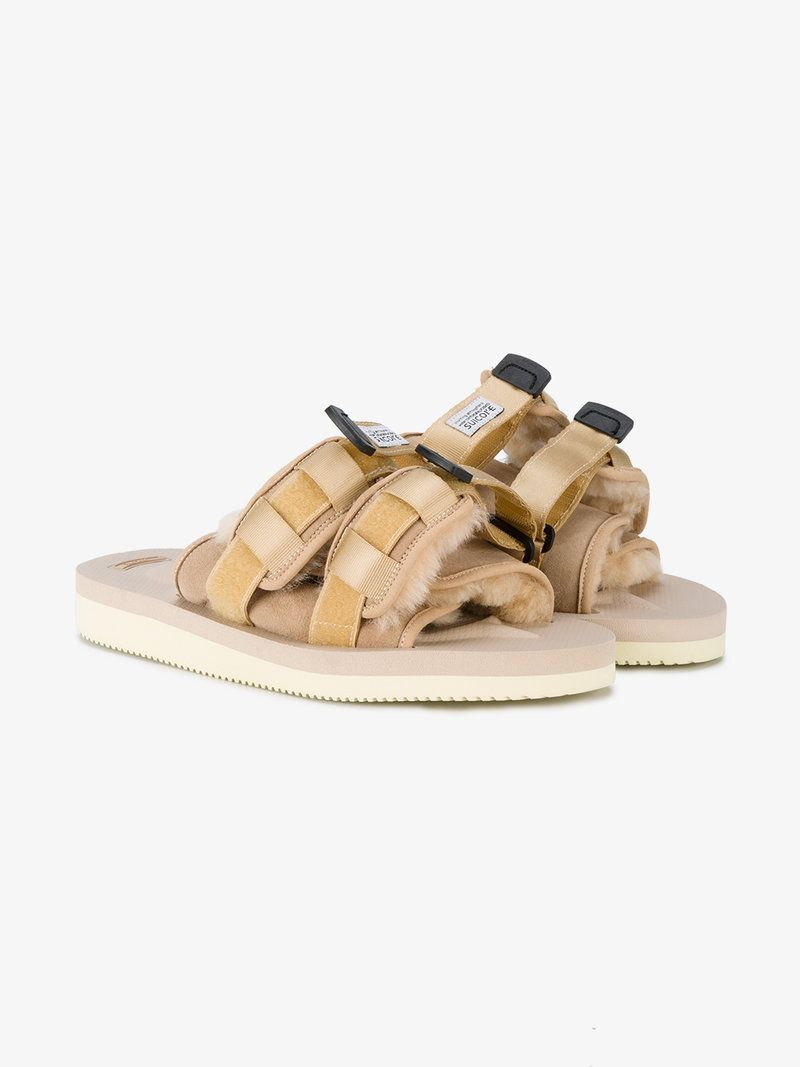 6bd7c8883ab0 SUICOKE BEIGE SUEDE MOTO-VM2 SANDALS.  suicoke  shoes  sandals ...