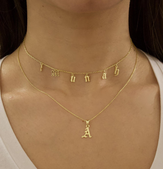 950c59b5744fa Choker Necklace - Personalized Choker Necklace - Custom Name Choker ...