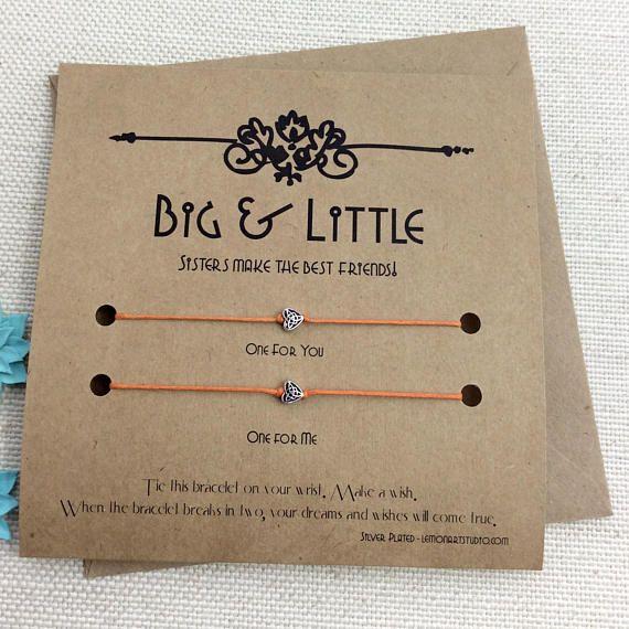 Big Little Gift, Big Sister, Little Sister, Gift For Sister, Wish Bracelet, Sorority Reveal #biglittlereveal