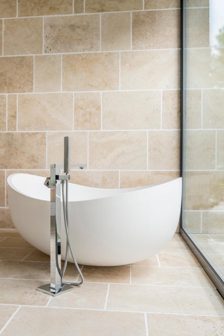 Grey And Timber Bathroom Bathroom Tile Designs Bathroom Interior Design Bathroom Color Schemes