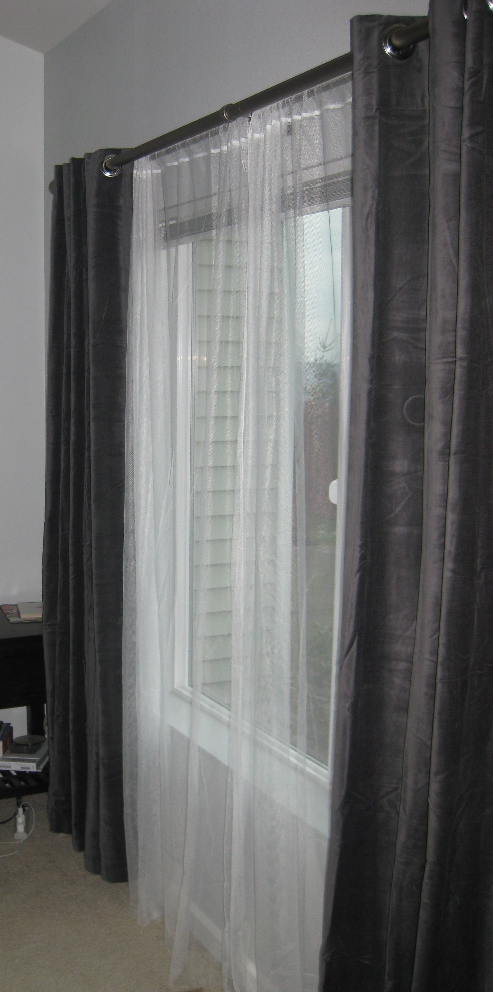 Curtains with sheers doublecurtains double curtains pinterest
