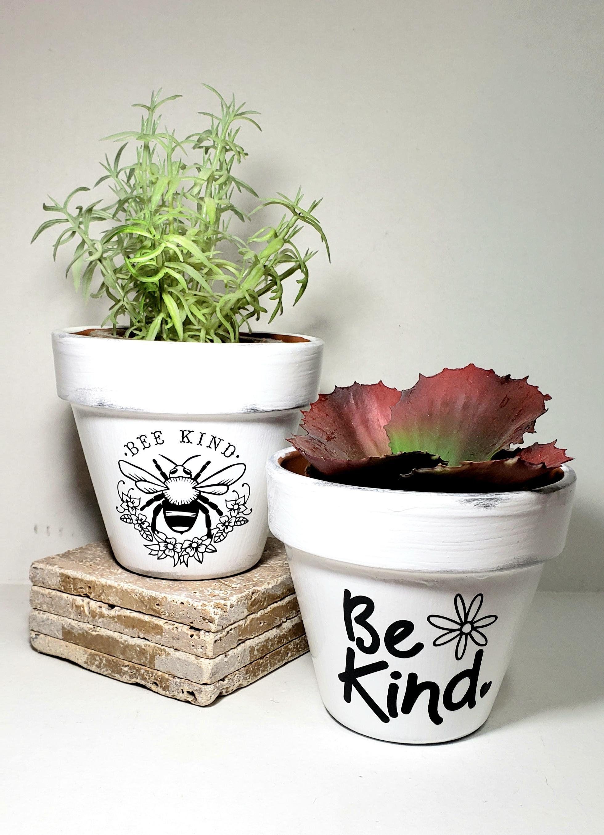 Be Kind Flower Pots Gardener Gift Bee Kind Kindness Matters Teacher Gift Coworker Gift Gift For Her 4 Inch Flowe Flower Pots Garden Gifts Save The Bees