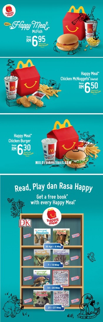 Mcdonald S Free Book Happy Meal Promotion In Malaysia Happy Meal Meals Chicken Mcnuggets