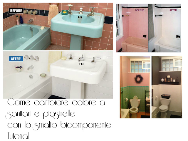 Smalto piastrelle bagno stunning verniciare la vasca da bagno ridare smalto smaltare pitturare - Smaltare la vasca da bagno ...