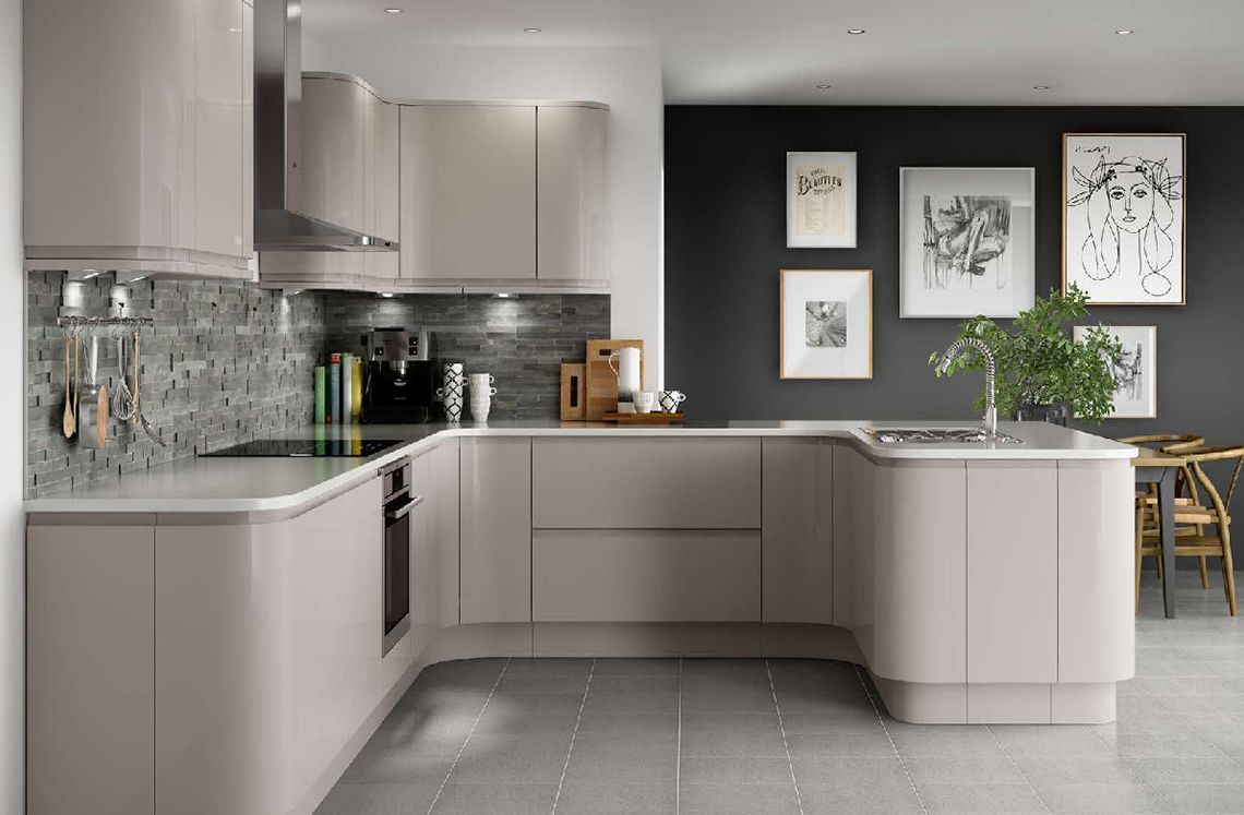 Holborn gloss cashmere my board pinterest cashmere for Kitchen ideas high gloss
