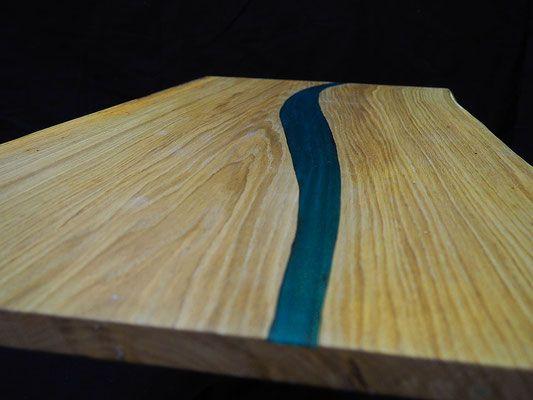 table basse en ch ne et r sine poxy stabliz cr ations stabliz pinterest table basse en. Black Bedroom Furniture Sets. Home Design Ideas