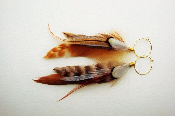 Boucles plumes de cuivre