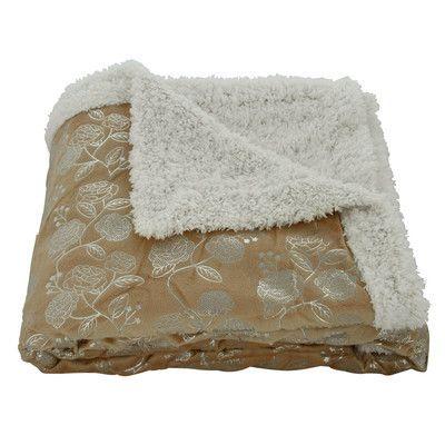 Plazatex / Sheradian Noble House Garden Sherpa Throw Blanket Color: