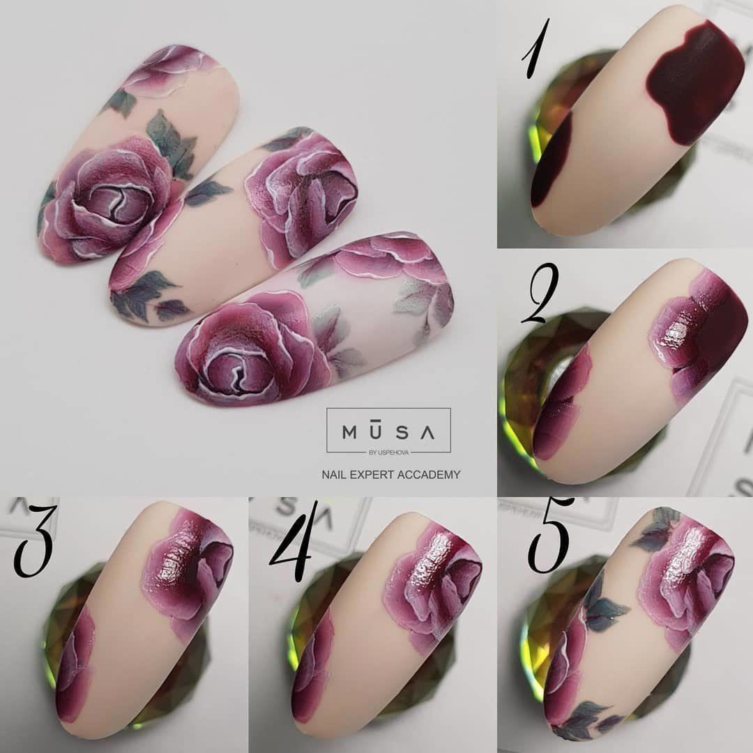дизайн ногтей розы фото пошагово возбуждают такие
