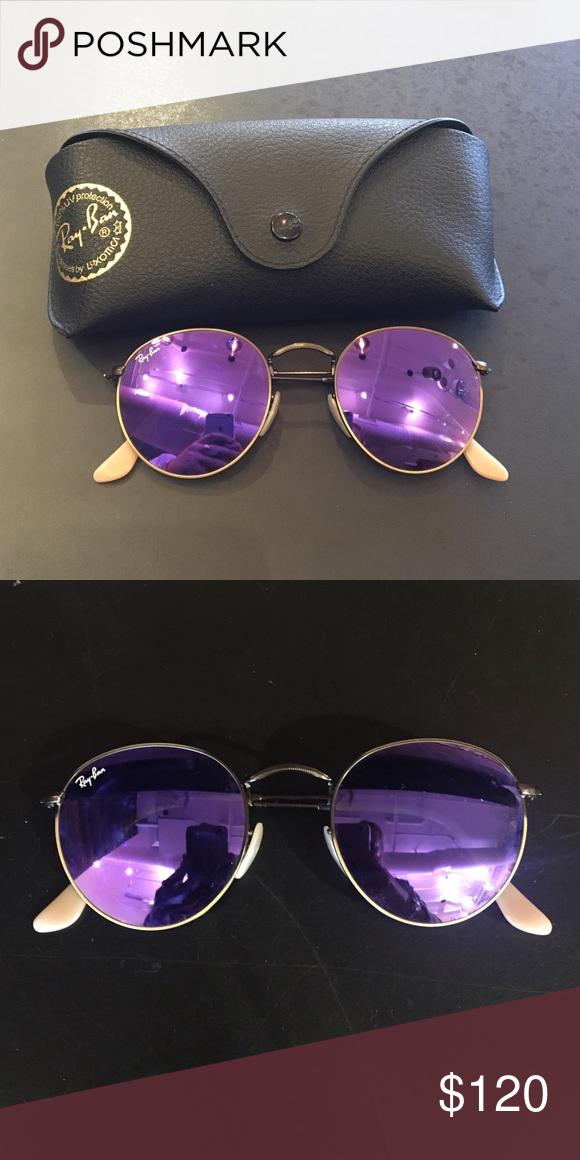 af6abe2d0878 Ray-Ban Round Purple Flash Lenses Frame  Bronze-Copper