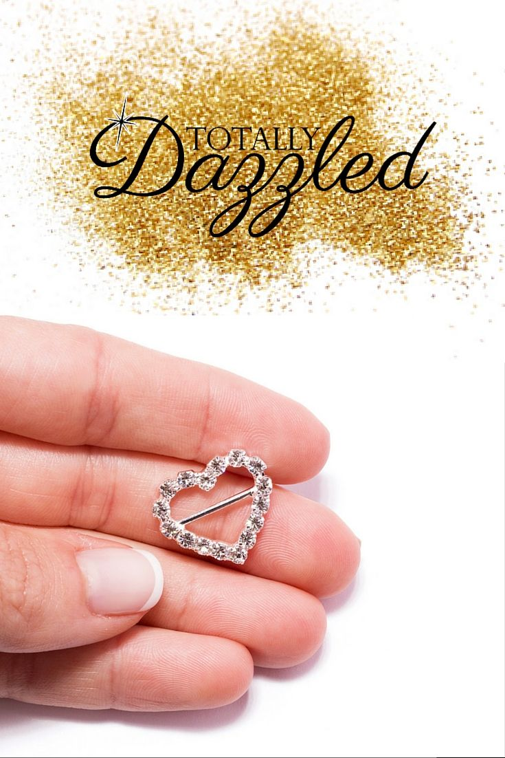 Rhinestone heart buckle 106-s | Napkin rings, Weddings and Wedding