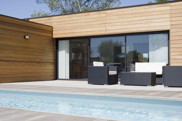 Maison en bois et piscine plan Pinterest Maisons en bois, En - Terrasse Bois Pilotis Prix