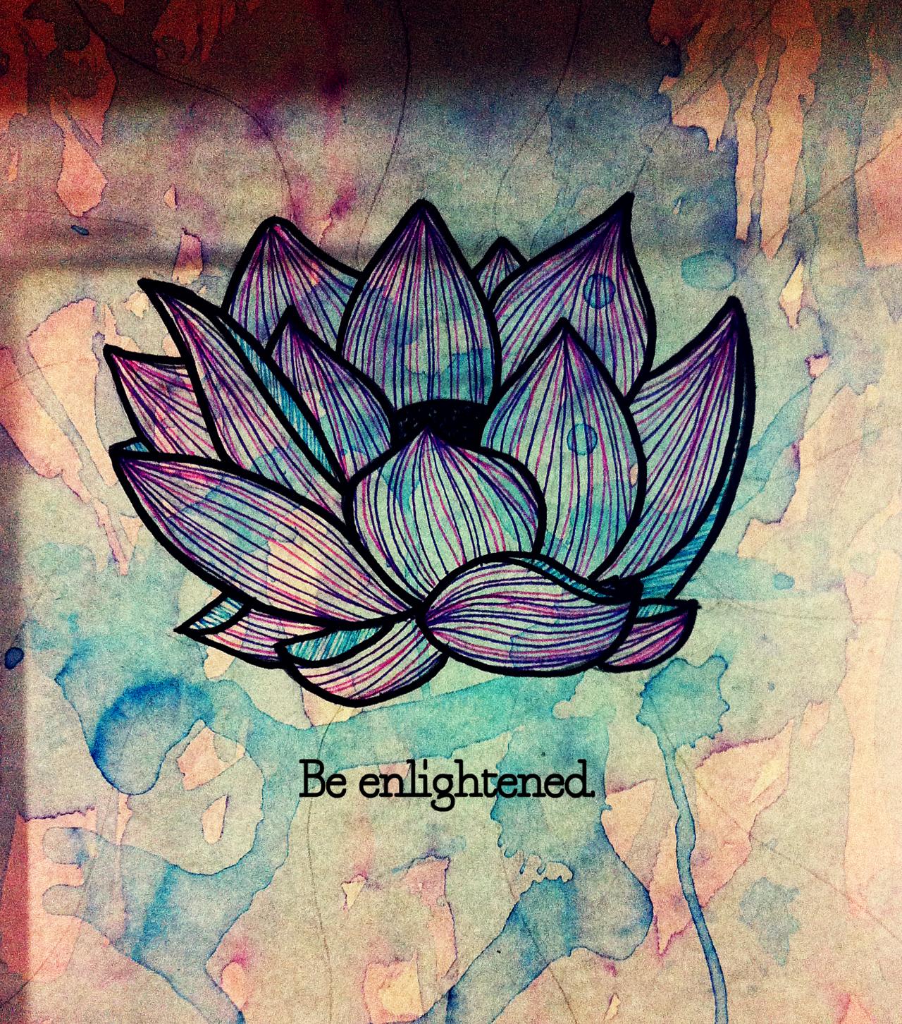 Be enlightened quote and artwork from free people tattoos ancora imparo lotus tattoowrist tattoolotus flowerslotus izmirmasajfo