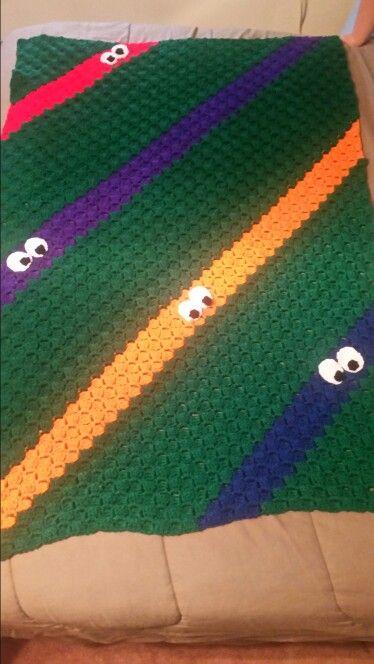 C2c Ninja Turtle Blanket Crochet Turtle Crochet Baby