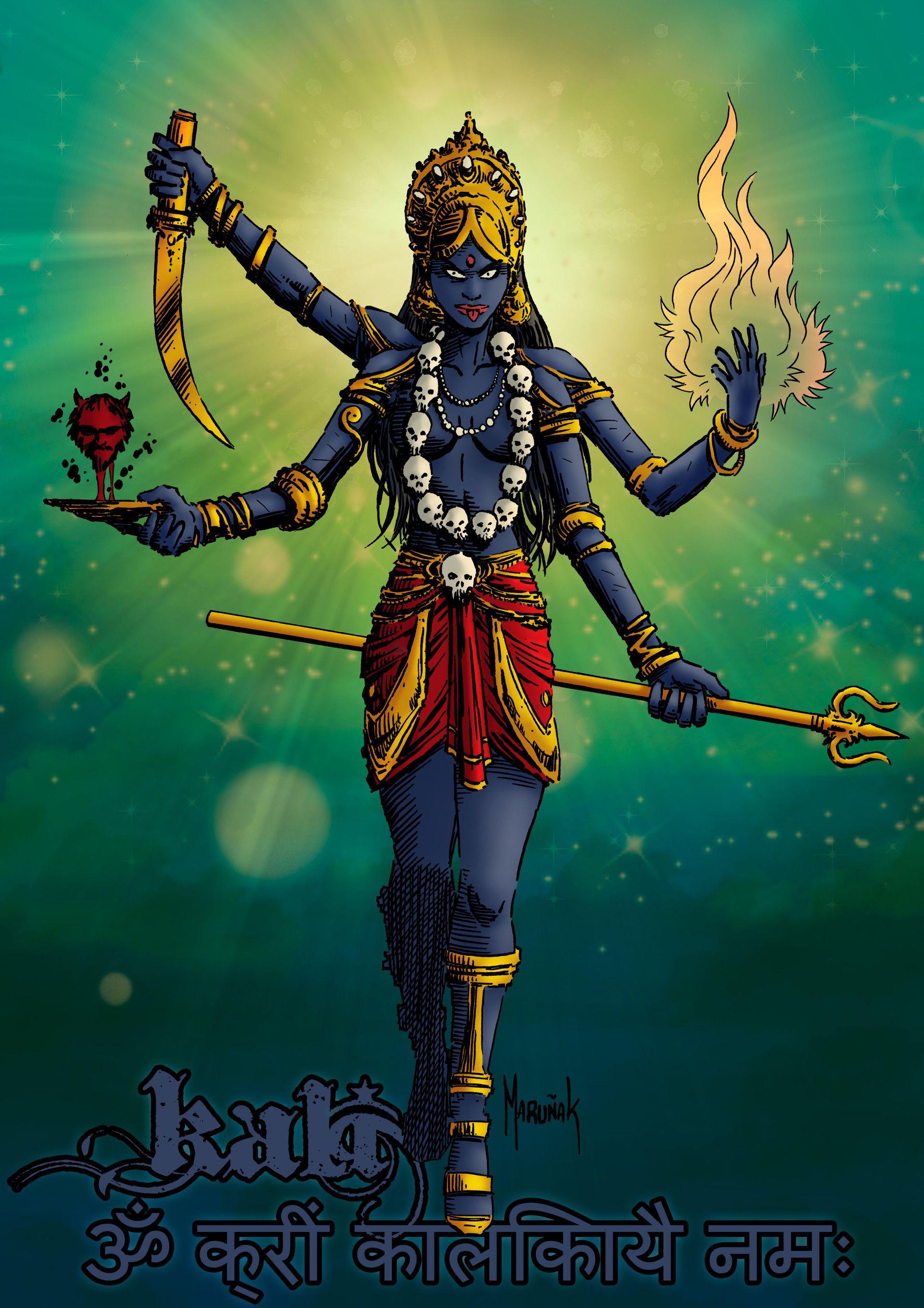 La aparición física de Kali