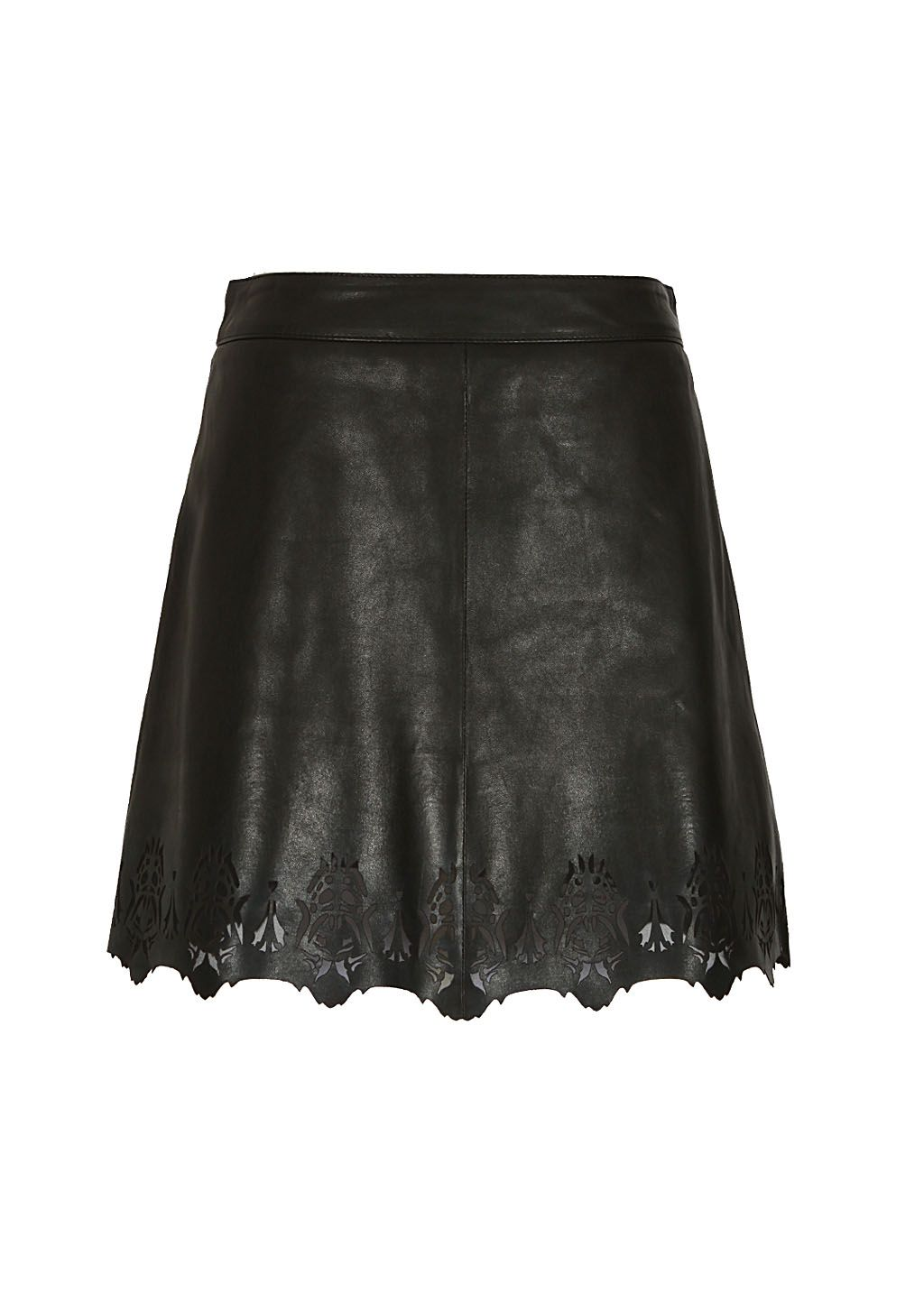 Rag and Bone Skirt :: Rag and Bone black open-leather skirt | Montaigne Market