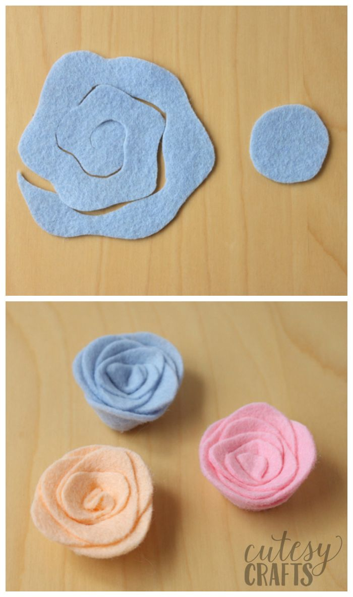 Felt Flower Magnets Tutorial #feltflowertemplate