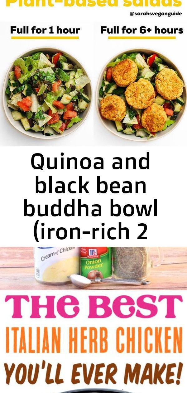 Quinoa and Black Bean Buddha Bowl (Iron-Rich) | Sarahs Vegan Guide Crockpot Italian Herb Chicken Re