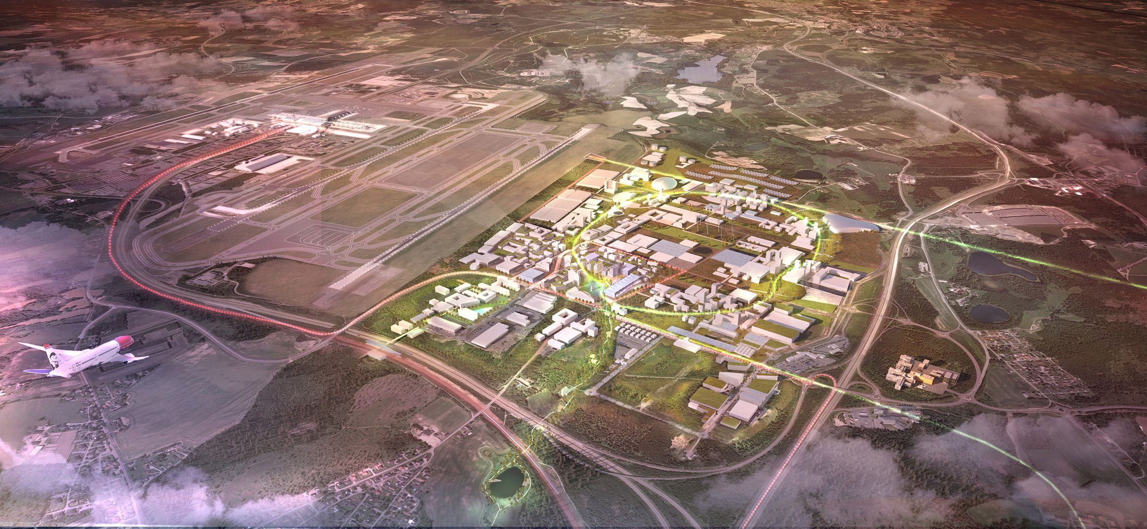 Haptic And Nordic To Build Sustainable City Of The Future At Oslo Airport Airport City Oslo Airport Sustainable City