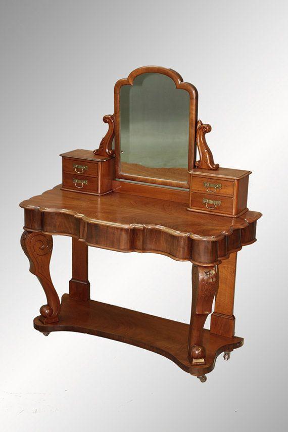 Antique Mahogany Victorian Vanity c.1880's-1890's - Antique Mahogany Victorian Vanity C.1880's-1890's Teresas