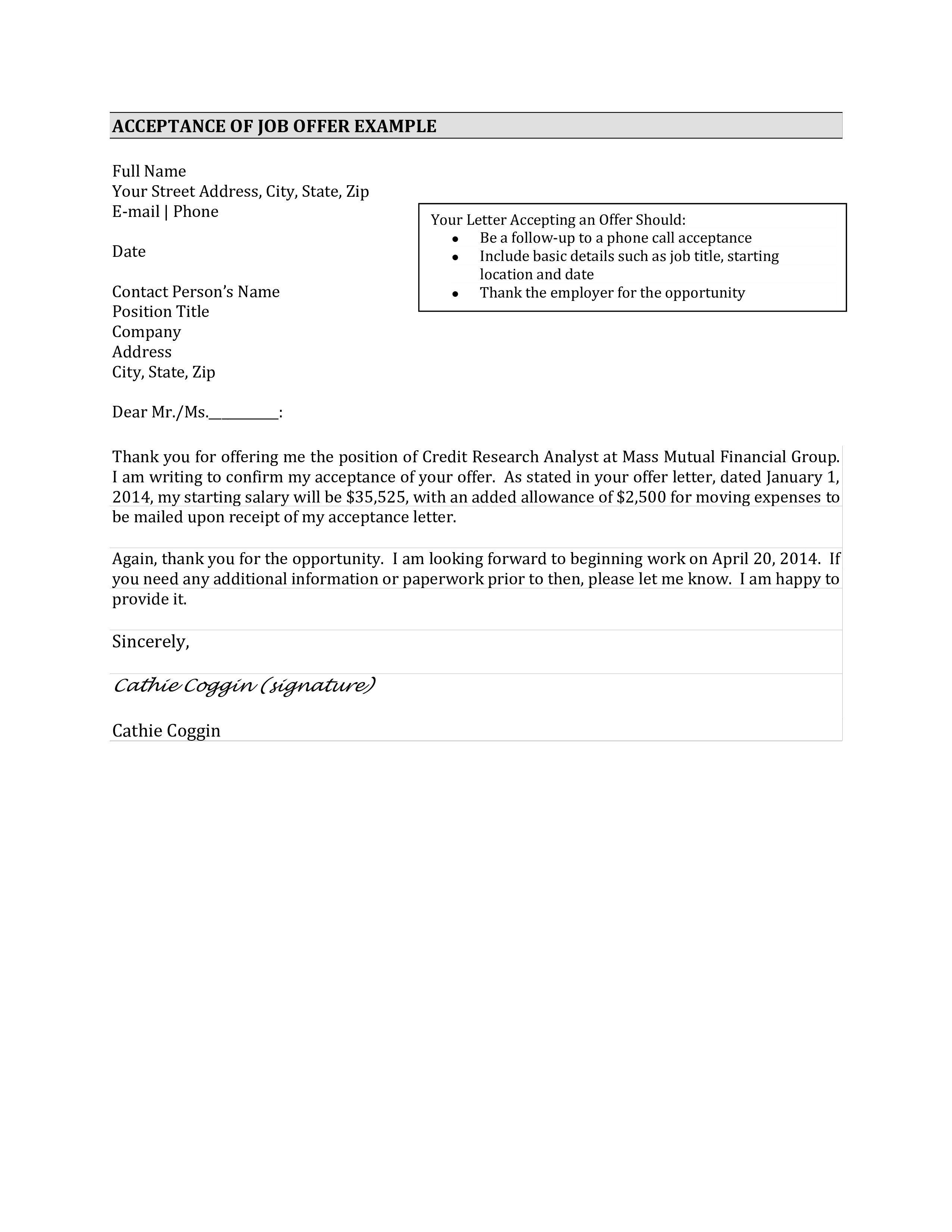 valid thank you letter after job acceptance can two column resume template free download objective in internship mechanical site engineer pdf