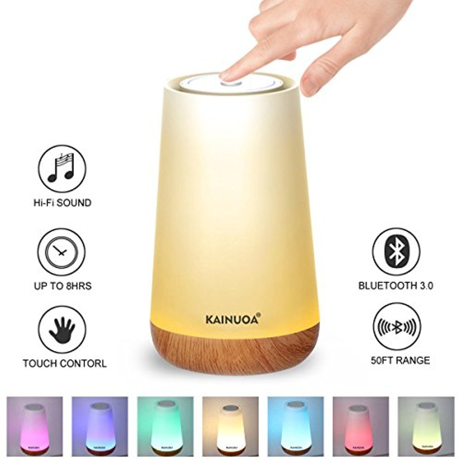 Touch Control Table Lamp Kainuoa Led Smart Touch Lamp With Bluetooth Speaker Control Night Light And Dimmable Color Control L Touch Lamp Lamp Night Light Lamp