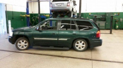 My GMC Envoy looked like when the rear air suspension failed  | Car