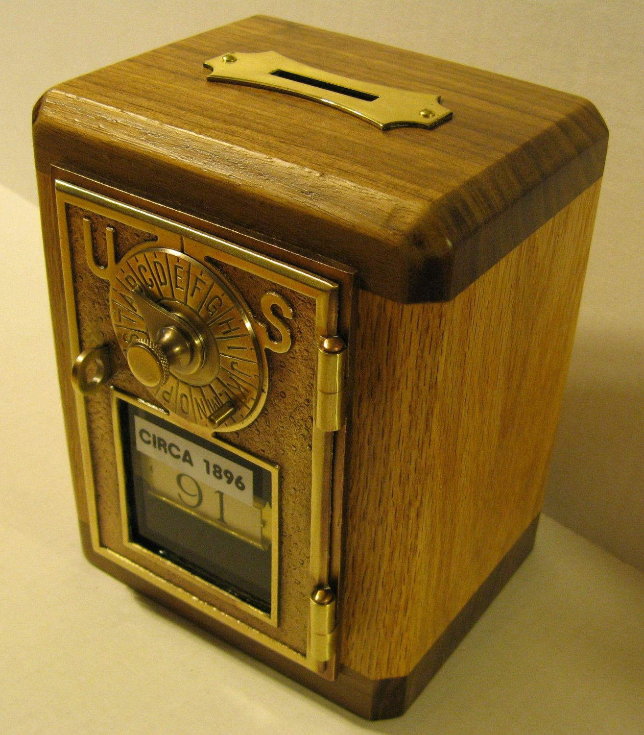 Cool Safe Made From An Antique Post Office Box