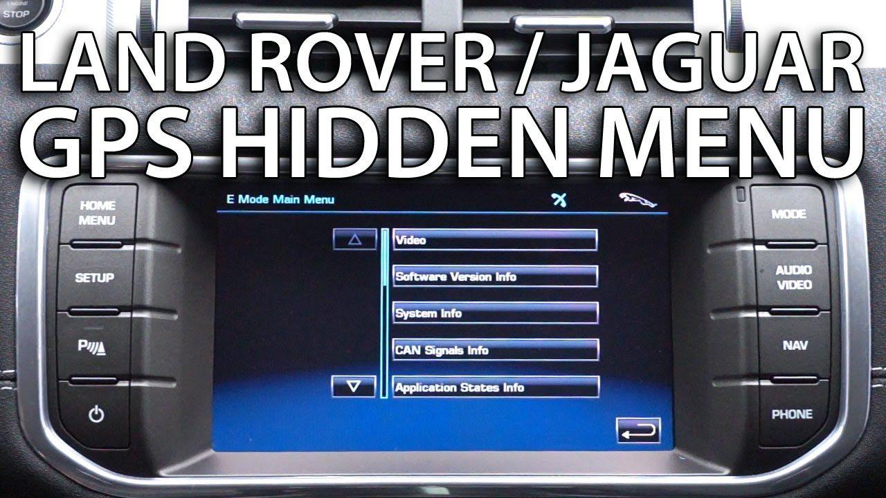 How to enter hidden menu #LandRover, #Jaguar (#GPS navi