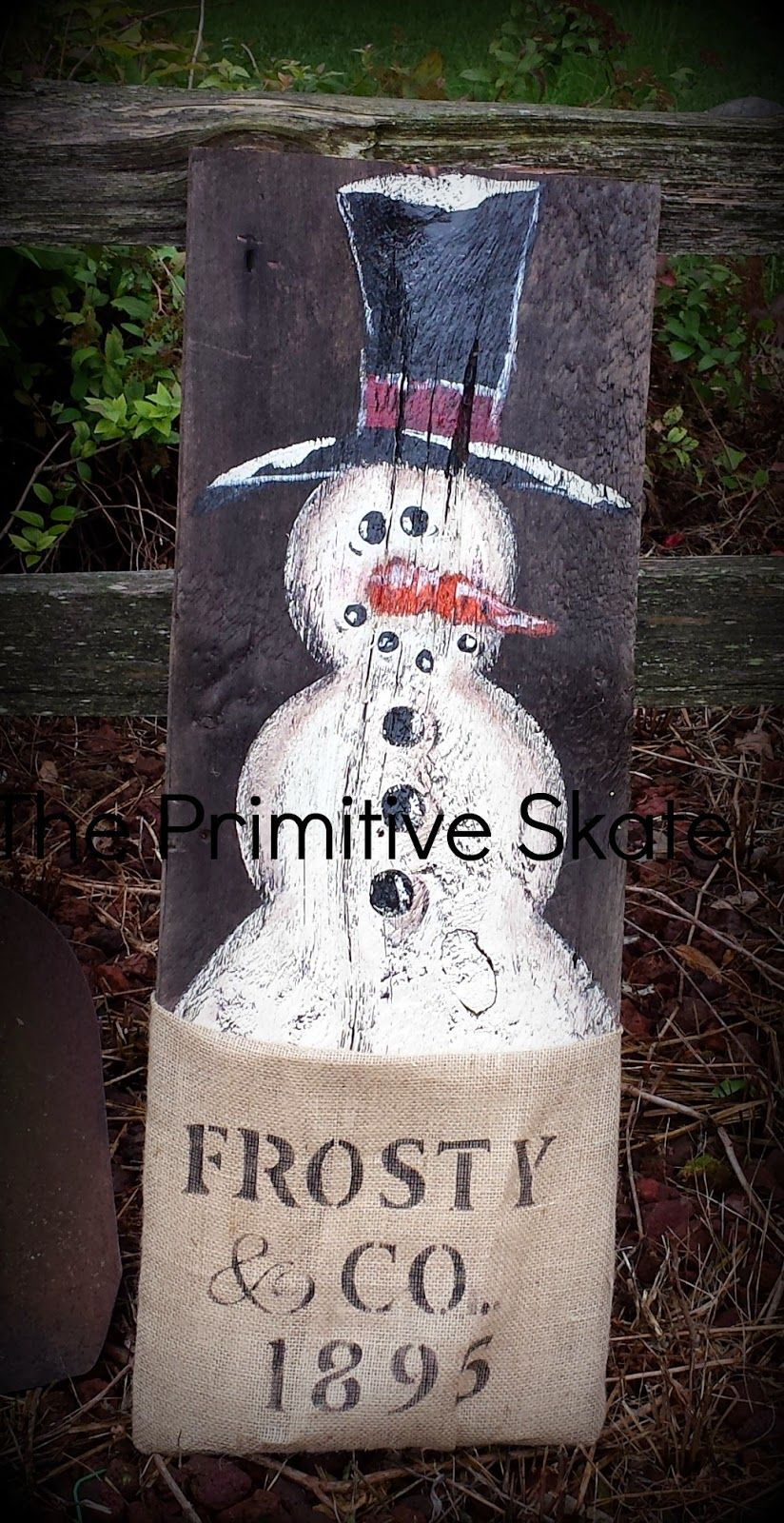 The Primitive Skate Painting Up Some Snowmen Snowman