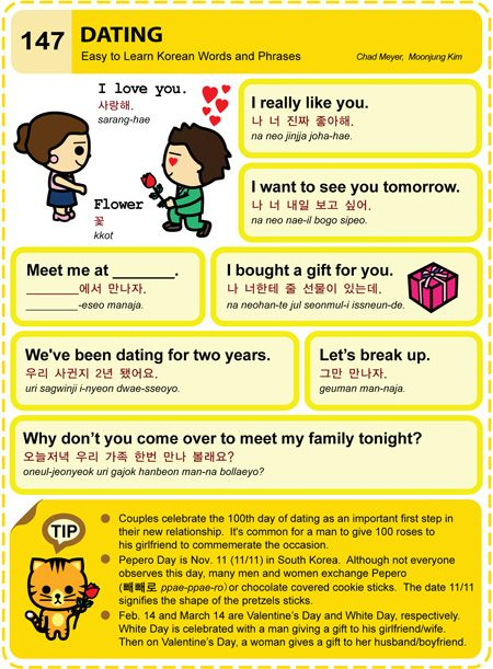 Dating in korean phrases in hangul