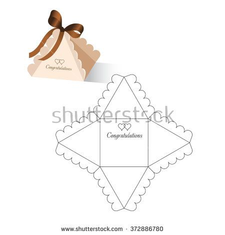 Retail box with blueprint template stock vector die cut crafts retail box with blueprint template stock vector malvernweather Choice Image