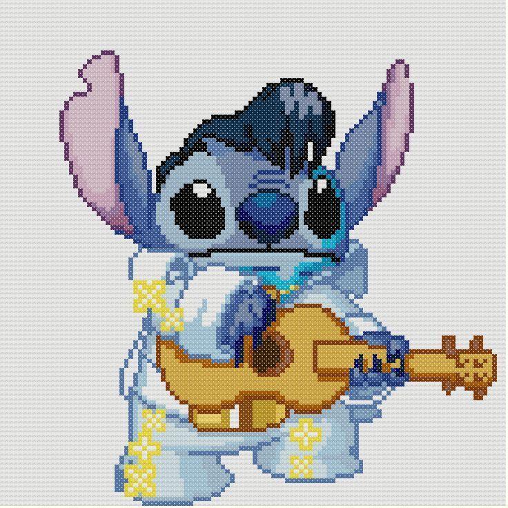 Pin Disney Lilo And Stitch As Elvis Cross Pattern Ebay On Pinterest Cojines Punto De Cruz Puntos De Cruz Divertidos Bordados En Punto Cruz