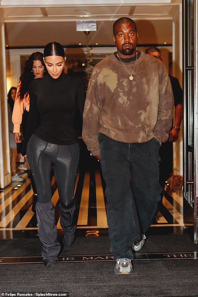 Kim Kardashian Steps Out With Kanye West Post Met Gala Kanye West Outfits Kanye Fashion Kanye West Style