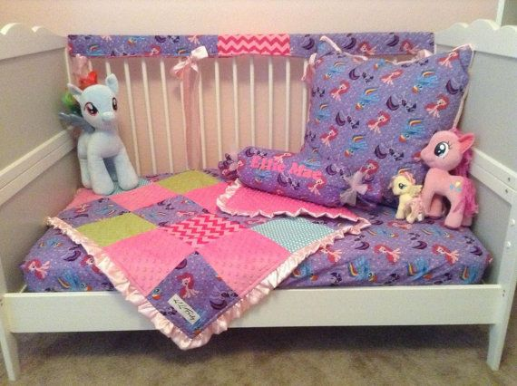 3 Piece My Little Pony Crib Or Toddler Set By KLBaby On