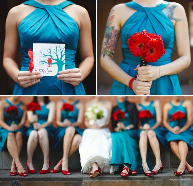 Katie John Sittin In A Tree American Wedding Wisdom Teal Wedding Colors Red Wedding Teal Wedding