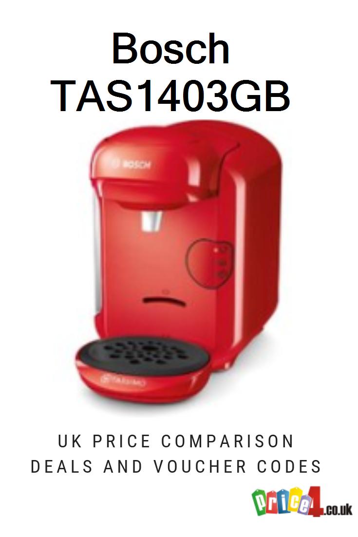 Bosch TAS1403GB UK Prices. Bosch Tassimo Vivy 2