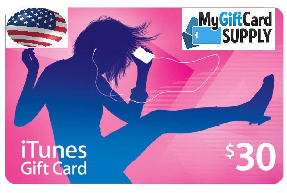 US iTunes Gift Card Itunes gift cards, Gift card