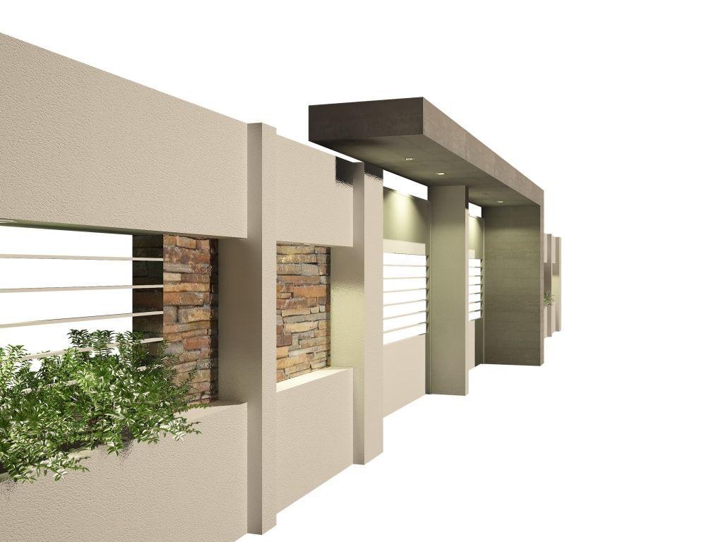 Muros y fachadas de casas modernas 8 ideas para que for Modelos de frentes de casas