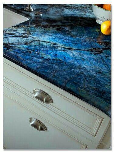 Blue Iridescent Countertop Fabulous Blue Countertops Luxury Kitchen Design Blue Granite Countertops